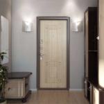 Входная дверь с МДФ Венге светлый СК-4, вид из квартиры